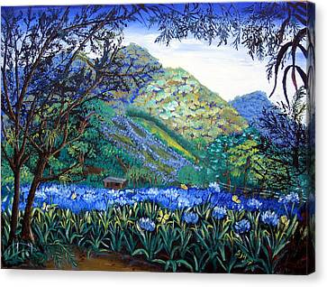 Mountains In Blue Canvas Print