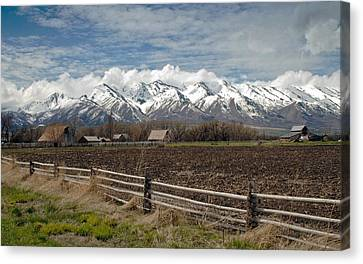 Mountains In Logan Utah Canvas Print