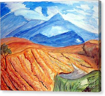 Mountains In Mexico Canvas Print by Stanley Morganstein