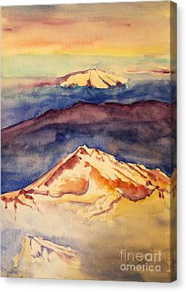 Canvas Print - Mountains In The Clouds by Tina Sheppard