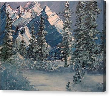 Mountains In Winter Canvas Print