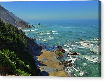 Mountains Meet The Sea Canvas Print