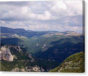 Mountains Of Central Italy Canvas Print by Judy Kirouac