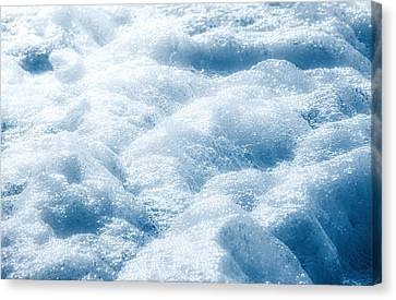 Mountains Of Foam Canvas Print by Wim Lanclus