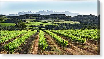 Canvas Print featuring the mixed media Mountains Of Montserrat Catalunya by Gina Dsgn