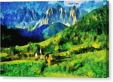 Mountains Paradise - Pa Canvas Print by Leonardo Digenio