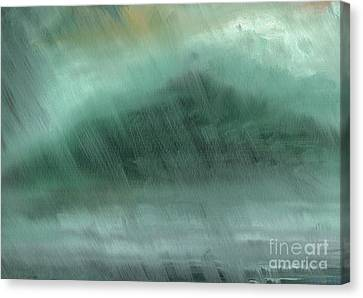 Stormy Weather Canvas Print - Mountains  Rain by Vincent Alexander Booth