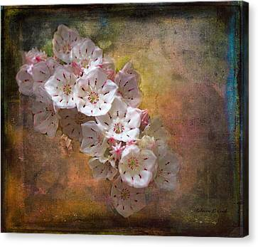 Mountain Laurel Canvas Print by Bellesouth Studio