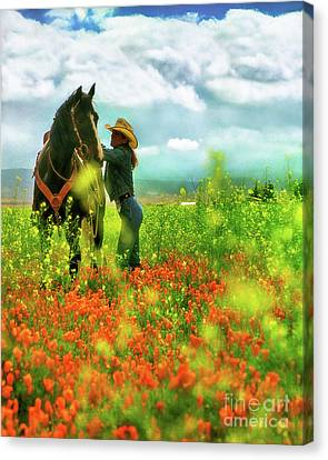 Mounting Up Canvas Print by Don Schimmel