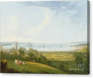 Mounts Bay From Ludgvan Canvas Print