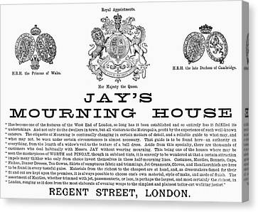 Mourning House, 1891 Canvas Print