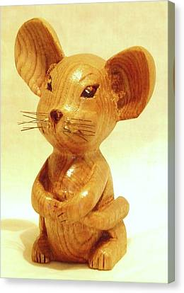 Mouse Canvas Print by Russell Ellingsworth