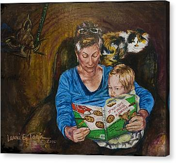 Mouse Tales Canvas Print by Laurie Tietjen