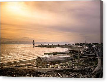 Mouth Of The Fraser Canvas Print by Joy Gerow