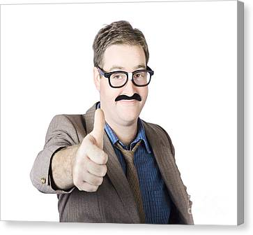 Movember Man Proud Of His Moustache Canvas Print by Jorgo Photography - Wall Art Gallery