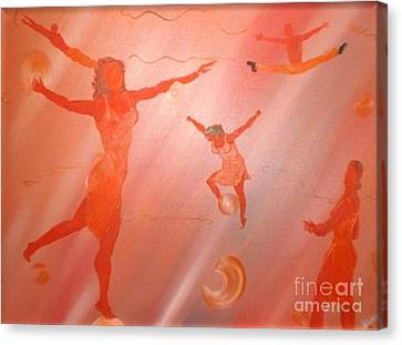 Canvas Print featuring the painting Movement by Barbara Hayes