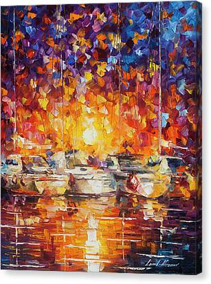Movement Of The Sea Canvas Print by Leonid Afremov