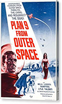Movie Poster For Plan 9 From Outer Space  Canvas Print