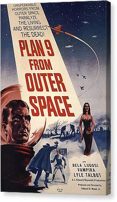 Movie Poster For Plan  Canvas Print