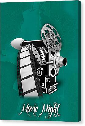 Movie Room Decor Collection Canvas Print