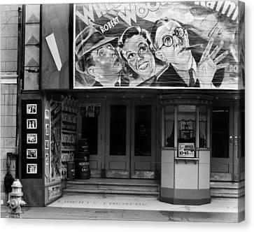 Movie Theater On Saint Charles Street Canvas Print by Everett