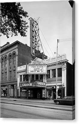 Movie Theaters, The Garden Theater Canvas Print