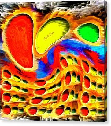 Backdrop Canvas Print - Moving Colors by Leonardo Digenio