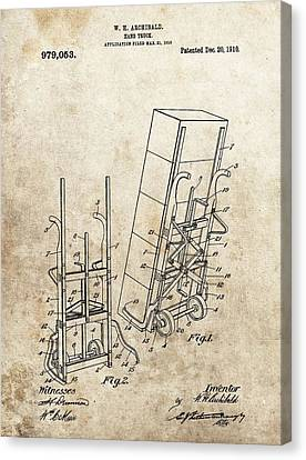 Moving Dolly Patent Canvas Print by Dan Sproul