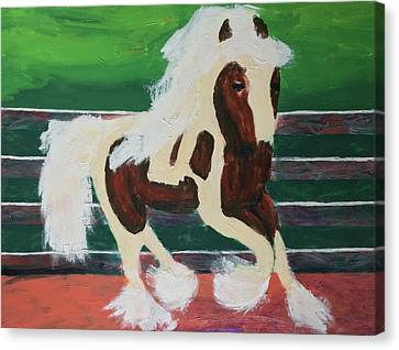 Canvas Print featuring the painting Moving Horse by Donald J Ryker III