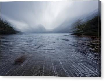 Maine Mountains Canvas Print - Moving Into The Lake by Jon Glaser