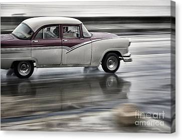 Moving Old Car Canvas Print