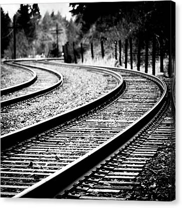 Train Tracks Canvas Print - Moving On by Brian Bonham