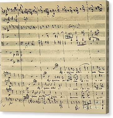Mozart: Requiem Excerpt Canvas Print by Granger