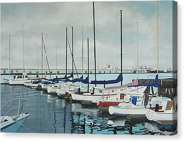 Mozells Boats Canvas Print by Howard Stroman