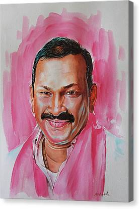 Mp Dayaker Anna Canvas Print by Venkat Meruvu