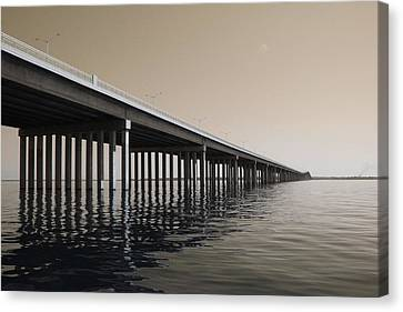 Mprints - Hwy 90 Bridge Canvas Print