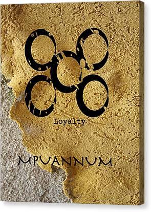 Mpuannum Adinkra Symbol Canvas Print