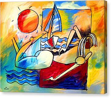 Mr Ameeba 11 Canvas Print