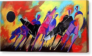 Mr Ameeba 5 Canvas Print