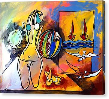 Mr Ameeba 6 Canvas Print