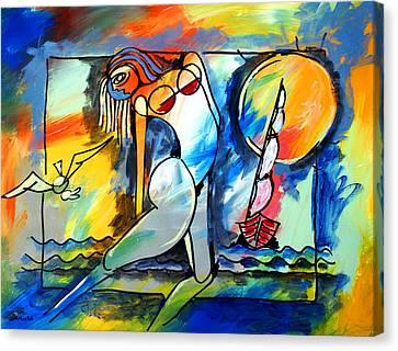 Mr Ameeba 8 Canvas Print