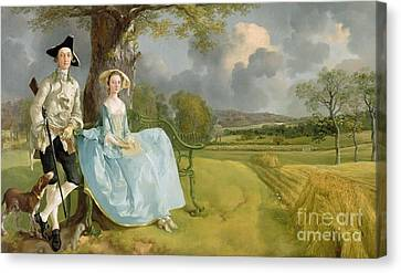 Mr And Mrs Andrews Canvas Print by Thomas Gainsborough
