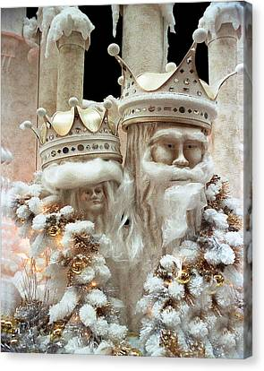 Mr And Mrs Winter Canvas Print by Barry Shaffer
