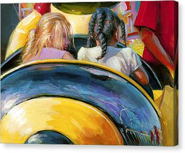 Mr. Bee Takes Some Friends For A Ride Canvas Print