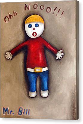 Mr. Bill Canvas Print by Leah Saulnier The Painting Maniac