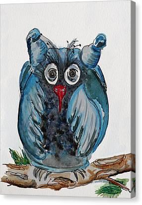 Mr. Blue Owl Canvas Print
