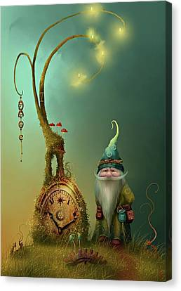 Mr Cogs Canvas Print