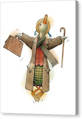 Mr Duck Canvas Print by Kestutis Kasparavicius