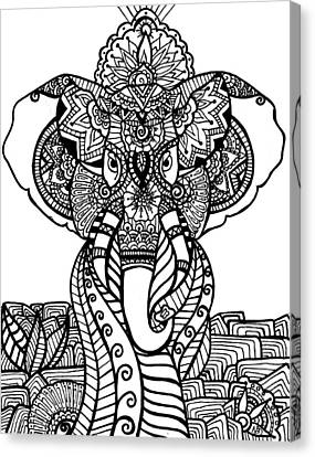 Mr. Elephante Canvas Print