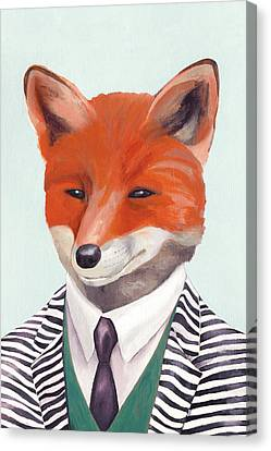 Mr Fox Canvas Print by Animal Crew